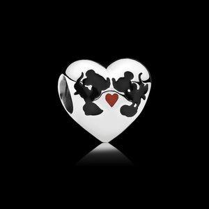 Disney, Minnie & Mickey Kiss Charm